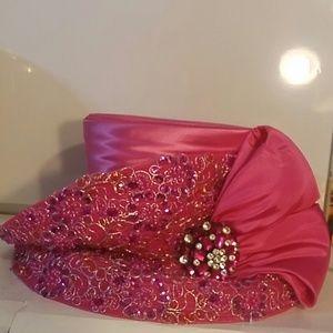 Ladies' Fashion hat - fuchsia